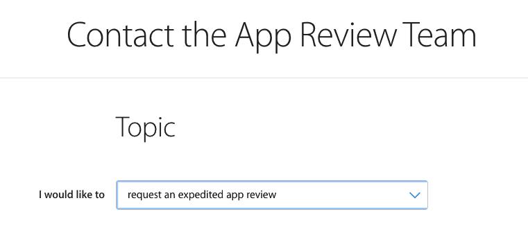 iOS提交AppStore后申请加急审核 第1张