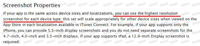 苹果调整 App Store 截图上传规则,截图尺寸、大小等再引混乱! 第4张