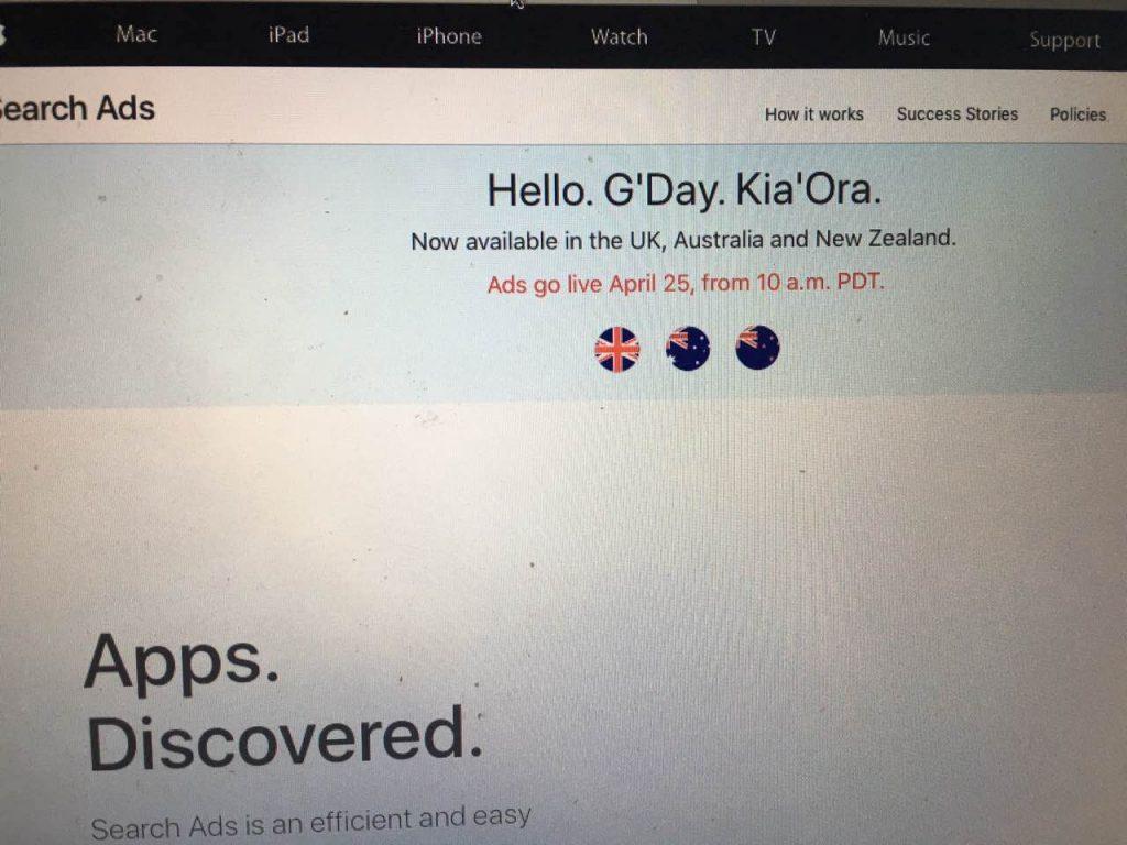 苹果竞价广告新增三个国家