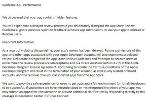 龙榜ASO优化师苹果新增处罚方式,大量被拒 App 审核周期延长一周以上 第2张