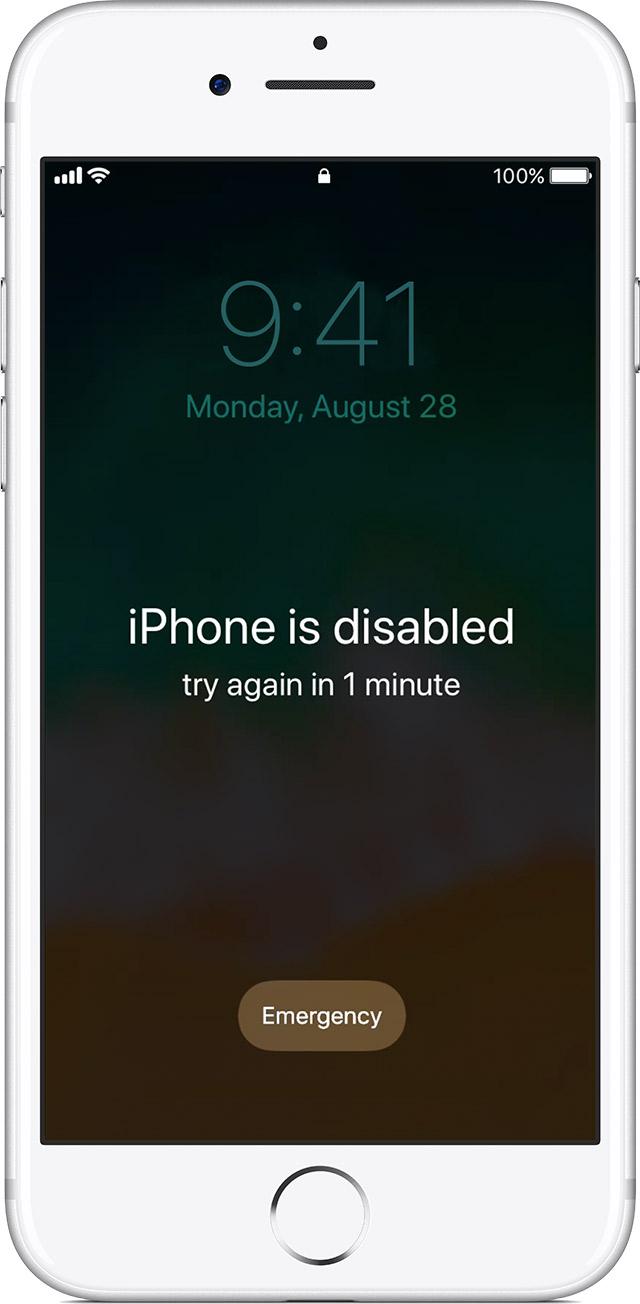 iPhone、iPad 或 iPod touch 密码忘了,或设备已停用怎么办 第1张